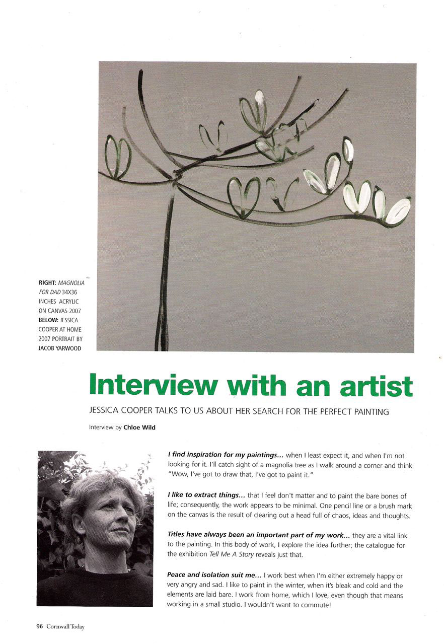 cornwall today magazine : october issue : artist's interview : chloe wild