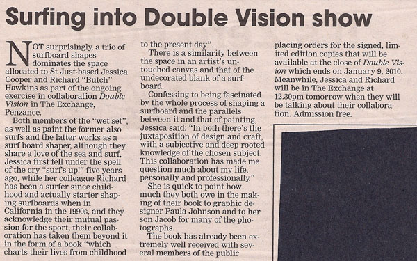 the cornishman : november 26th : exhibition and book review : double vision : along the same lines