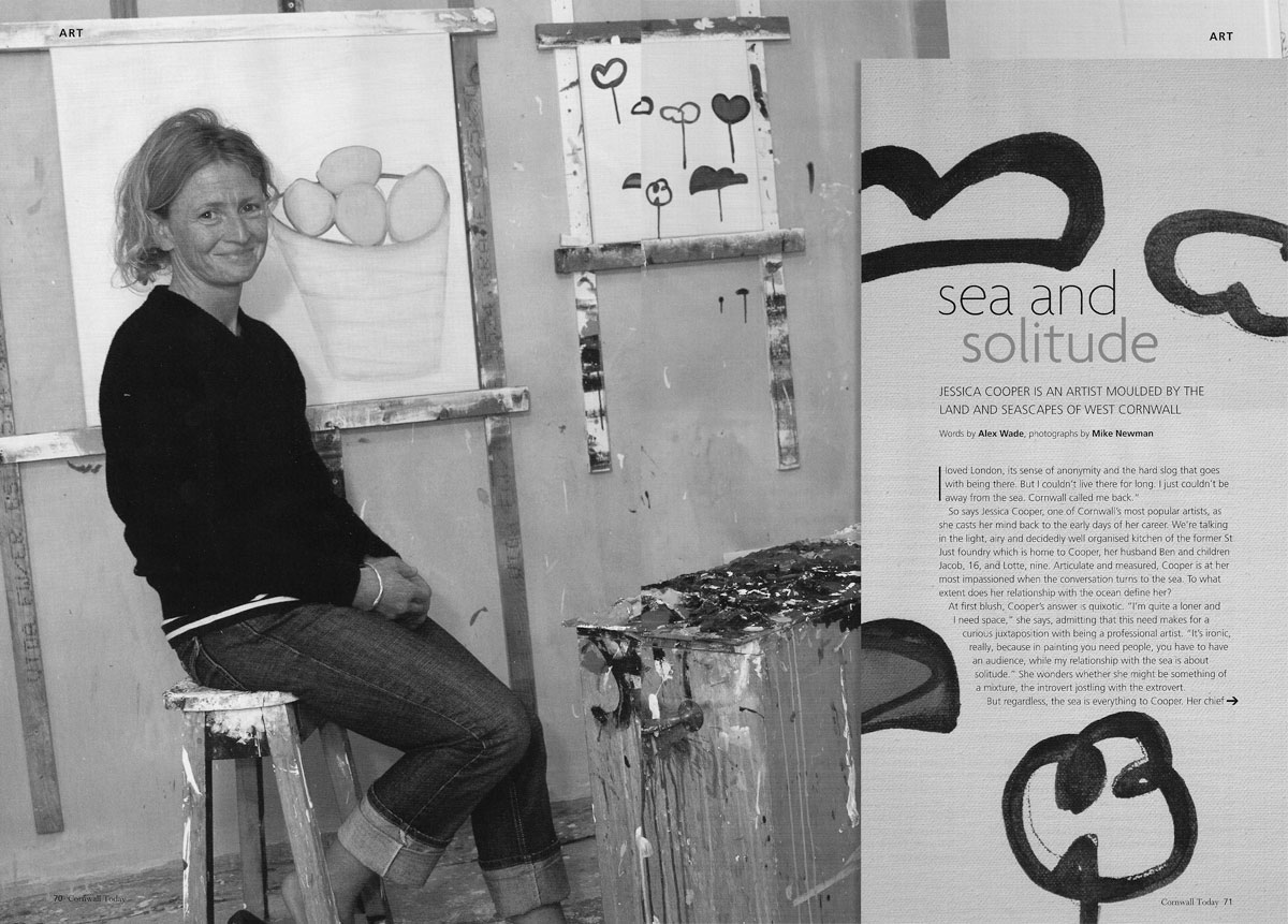 inside cornwall : october issue : exhibition review : eclectic and the sea
